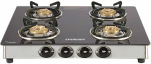 Eveready TGC 4B RV Brass, Glass, Stainless Steel Manual Gas Stove