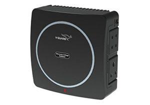 V-Guard Mini Crystal Voltage Stabilizer for up to 32 inch TV (90 – 290 V) (Black)